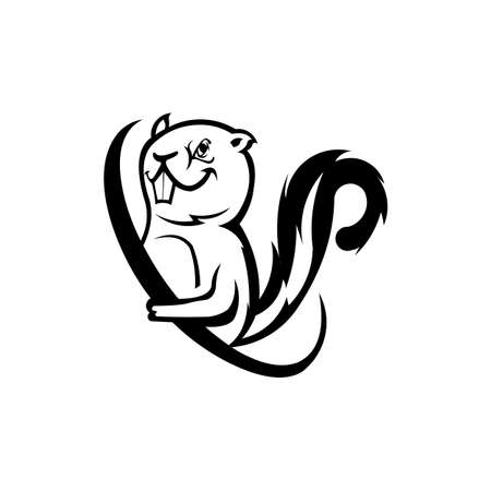 squirrel icon trendy and modern squirrel symbol for logo graphic and web design. Ilustrace
