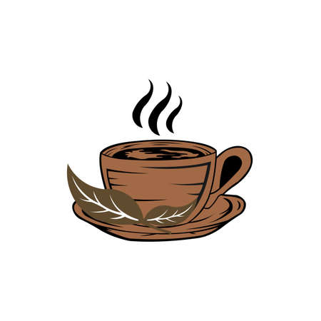 Hot drinks icon flat vector illustration for graphic and web design Ilustrace