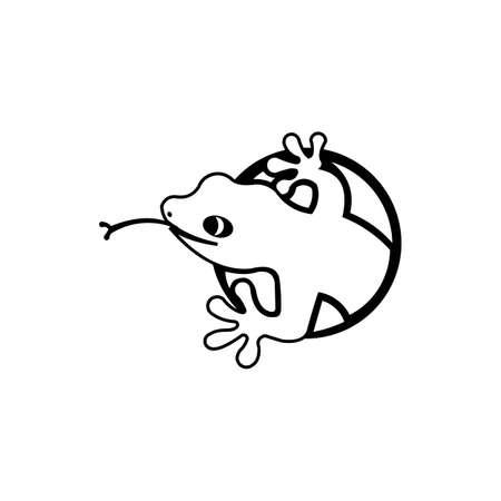 Cartoon of  lizard vector icon for web design