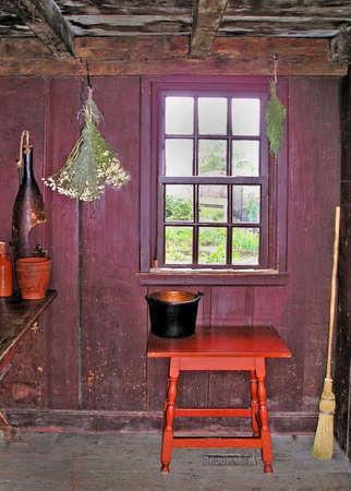 antique cabin Stock Photo