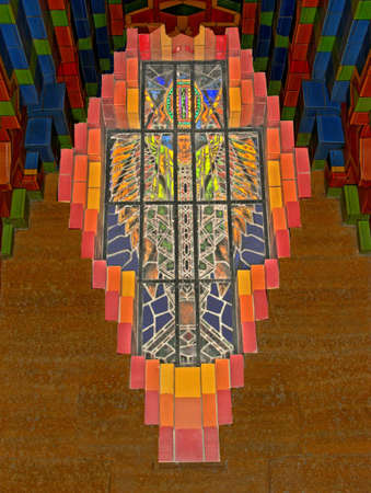 lamp shade: stained glass Stock Photo