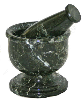 onyx: green onyx mortar and pestle