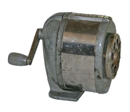 old metal pencil sharpener Stock Photo - 1171859