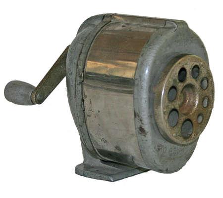 sacapuntas: viejo sacapuntas de metal