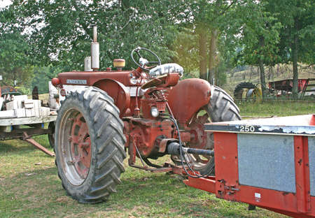 old tractor and wagon Stock Photo - 1351544
