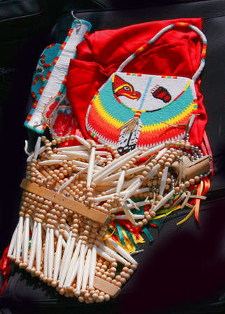 parts of an American Indian women's apparel Stock Photo - 1630117