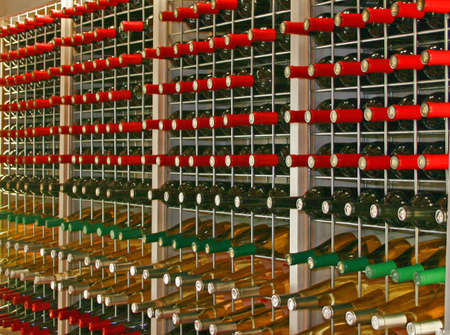Rows of different types of bottled wine Banco de Imagens - 3057319