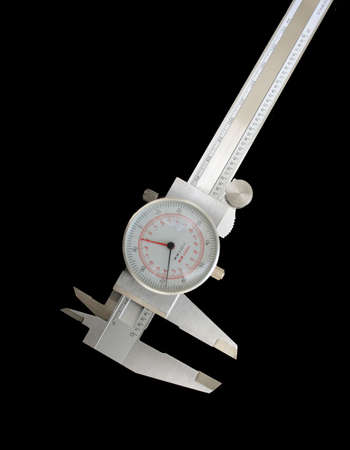 close-up of a micrometer on isolated background photo