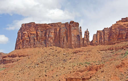 Rock formations in Arches Park, Utah photo
