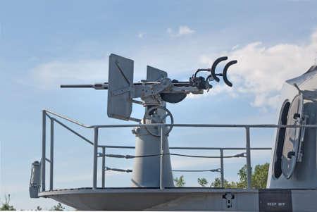 an antiaircraft machine gun on a submarine Stock Photo - 10024364