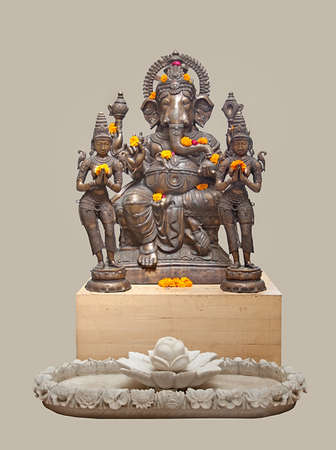 Ganesh with attendants, Nepal Editorial