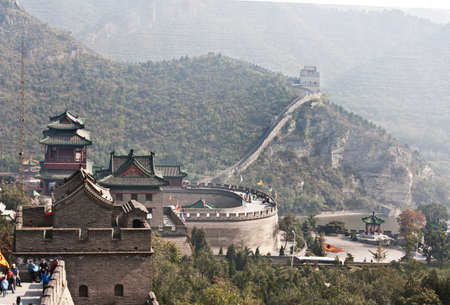 a portion of the Great Wall of China