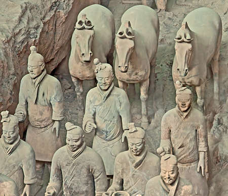First Emperor of Chinas terracotta warriors, Xian, China 新聞圖片