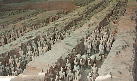 emperor of china: First Emperor of Chinas terracotta warriors, Xian, China Editorial