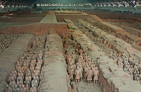 imperialism: First Emperor of Chinas terracotta warriors, Xian, China Editorial
