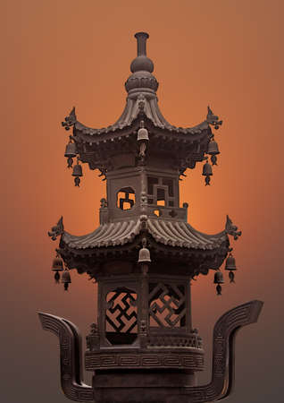 Wild Goose Pagoda structure, Xian, China