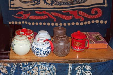 pekoe: various style teapots, Guilin, China
