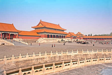 Buildings inside the Forbidden City, Beijing, China