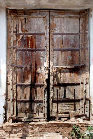 Very old doors in Indian villages