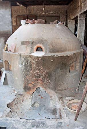 kiln: an ancient pottery kiln still in use in Jaipur, India Stock Photo