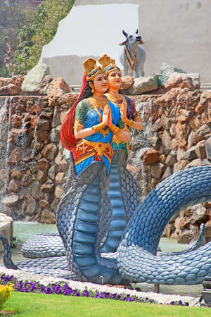 krishna: Serpent god Stockfoto
