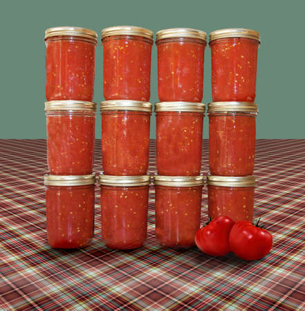airtight: Canned vegetables Stock Photo