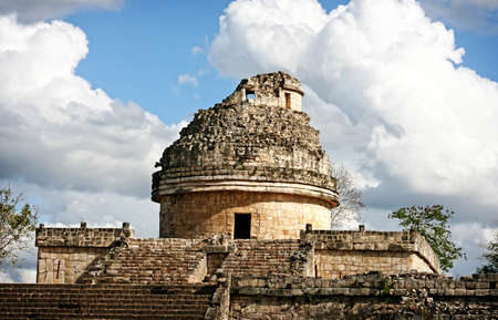 the Mayan observatory at Chichen Itza, Mexico photo