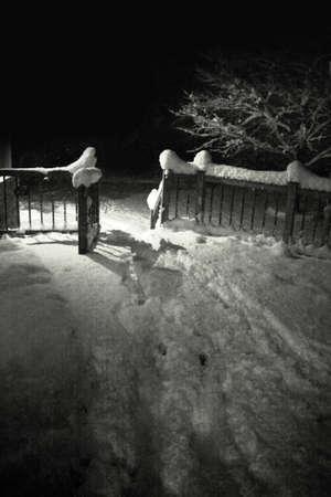 michigan: A snowy night in Michigan
