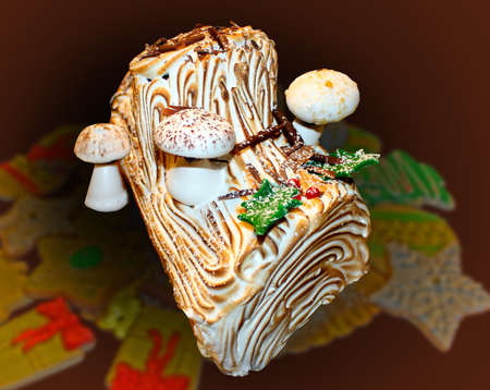 yule: fancy, decorated choliday pastries Stock Photo