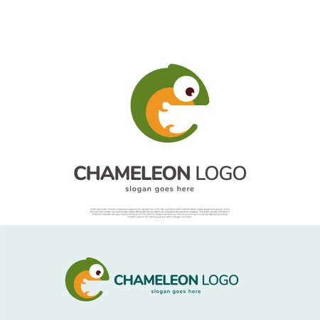 Chameleon animal vector