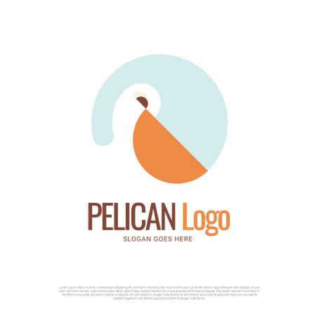 Pelican bird icon symbol logo design 向量圖像