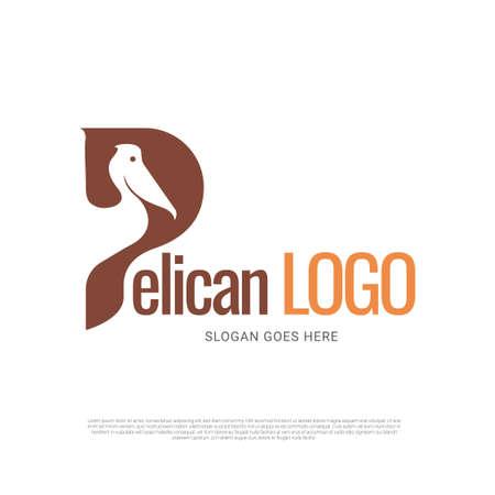 Pelican bird icon symbol logo design