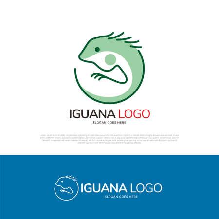 Iguana reptile logo icon symbol design