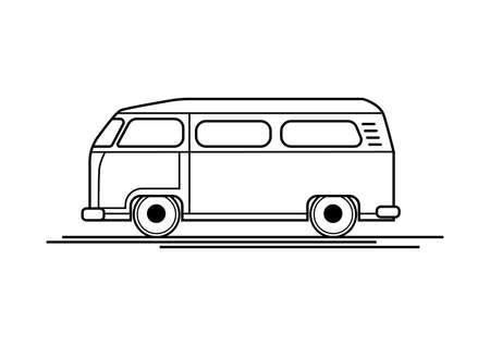 Auto Kombi Icon Vektor