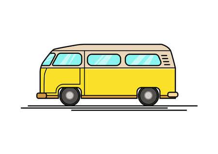 Auto-Kombi-Symbol Vektor
