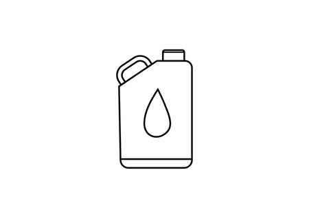 oil vector icon isolated on white background.