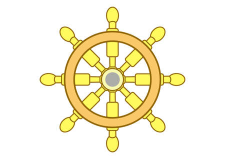 ship wheel vector icon Illustration