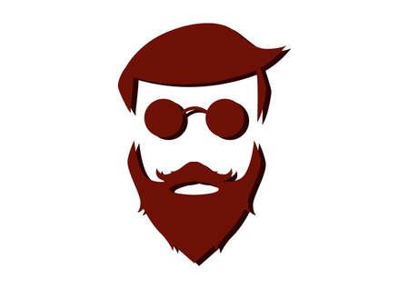 Hipster Detailed Hair Beards