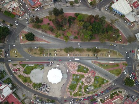 Lopez Mateos roundabout in the Guadalajara metropolitan area, Zenith View, Mexico
