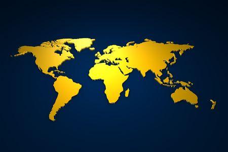 Golden Worldmap Stock Photo - 2972772