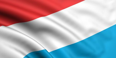 3d rendered and waving flag of luxembourg photo