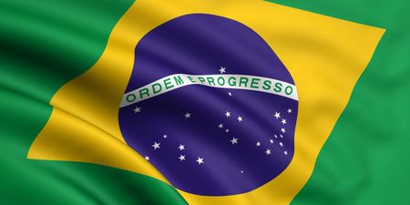 3d rendered and waving flag of brazil