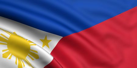 philippine: 3d rendered and waving flag of philippines