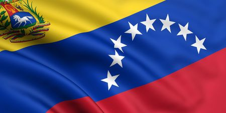 3d rendered and waving flag of venezuela Stock Photo