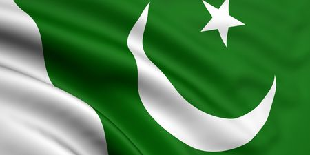 3d rendered and waving flag of pakistan