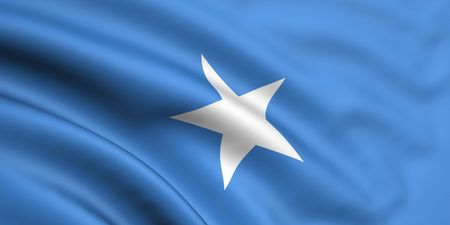 somalia: 3d rendered and waving flag of somalia Stock Photo