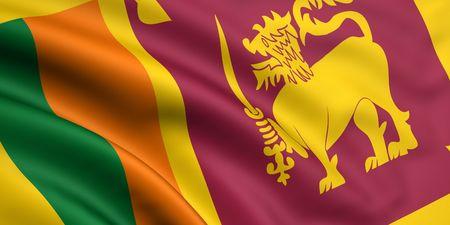 3d rendered and waving flag of sri lanka Stock Photo