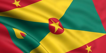 3d rendered and waving flag of grenada photo