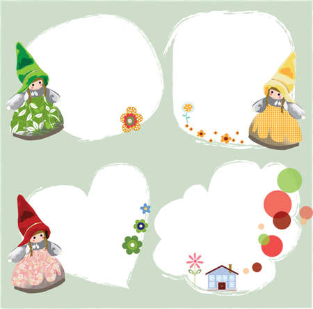 nain de jardin: cadres de nain de jardin Illustration