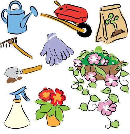 wheelbarrow: garden tools